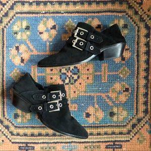 Rebecca Minkoff Austen Studded Buckle Boot Suede 7